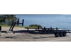 26-28 ft Triple Axle Heavy Duty Pontoon Trailer 7150 lbs capacity 14 in Tires with brakes